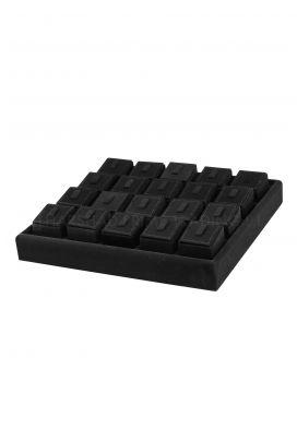 27x26 Rd Black Display Ring Tray Gitti