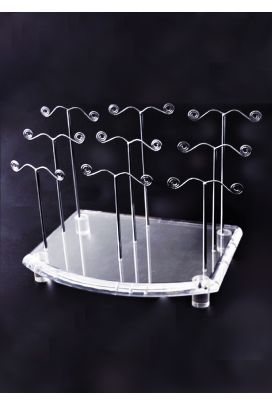 AR 120 Earring Stand Steel Clear