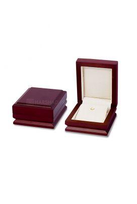 JW 303 Earring Wooden Box Beige