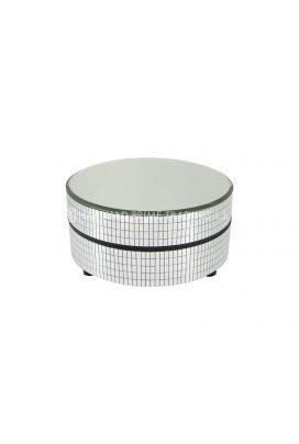 U 950s Turn Table 5 Dia Mirror Top In Silver